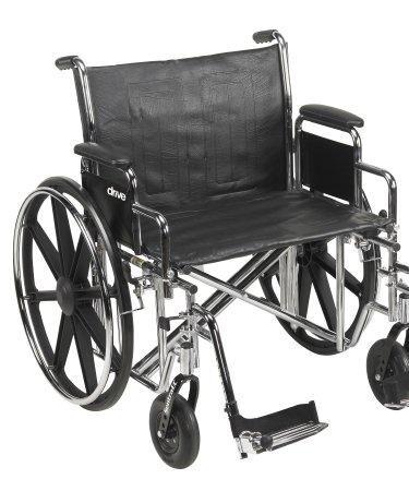 Wheelchair Bariatric Dual Axle Desk Length Arm Padded
