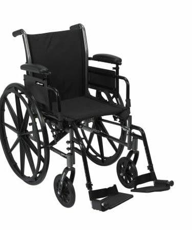 Wheelchair McKesson Dual Axle Flip Back Lightweight