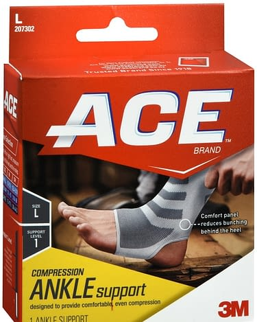 Ankle Sleeve ACE Slip-On Left or Right Foot Medium