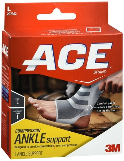 Ankle Sleeve ACE Slip-On Left or Right Foot Medium