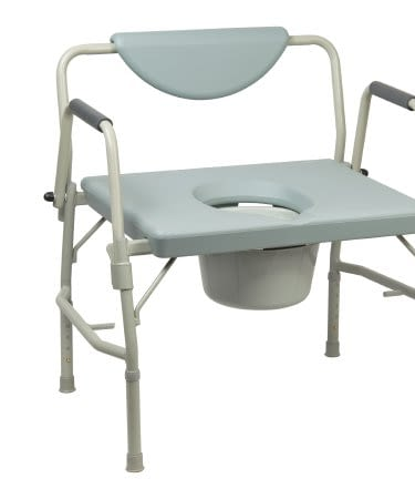 Commode Chair Dalton Bariatric Steel Frame 23-1/4 In Seat