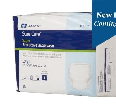 Adult Absorbent Underwear Sure Care™ Pull On Large Disposable Heavy Absorbency
