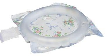 Shampoo Basin Inflatable 22.5 X 23.5 Inch Clear / Floral