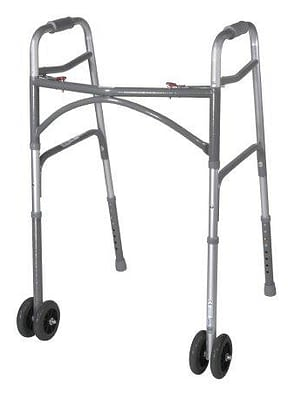 Folding Walker Adult McKesson Steel Frame 500 lbs