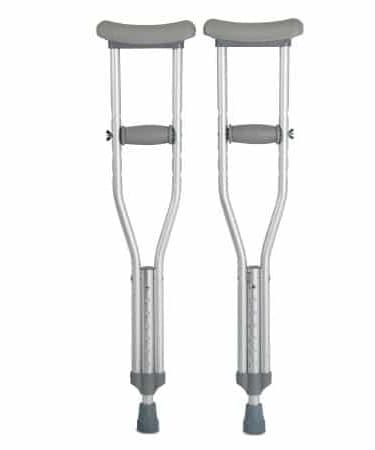 Underarm Crutches McKesson Aluminum Frame Child 175 lbs. 1 pair