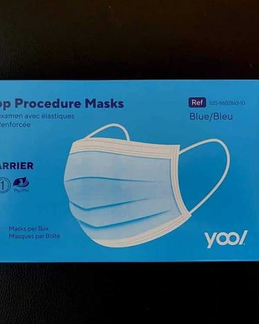 Procedure Mask High Barrier Disposable Earloop Blue 3 Ply  (10 Count)