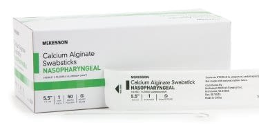 Nasopharyngeal Collection Swab McKesson 5-1/2 Inch Length Sterile