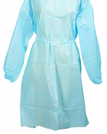 Protective Procedure Gown McKesson One Size Fits Most Unisex NonSterile Blue