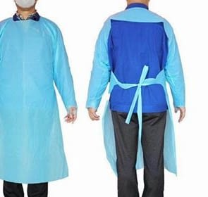 Protective Procedure Gown Large Blue Non-Sterile AAMI Level 1 Disposable