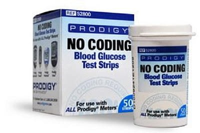 Blood Glucose Test Strips Prodigy 50 Strips/BX