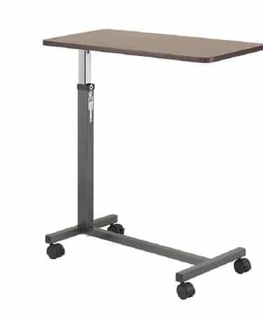 Overbed Table Non-Tilt Adjustment Handle 28 to 45 Inch Height Adjustment