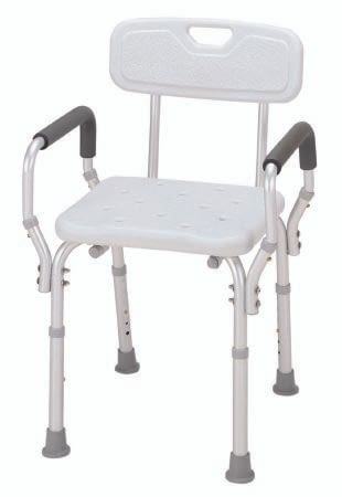 BATH BENCH WITH ARMS & BACK ESSNTL MED