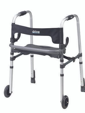Dual Release Folding Walker Fixed Height
