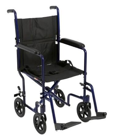 Transport Chair McKesson Aluminum Frame
