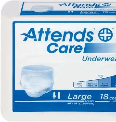 Adult Absorbent Underwear Attends® Pull On Large Disposable Moderate Absorbency (25/PK 4PK/CS)