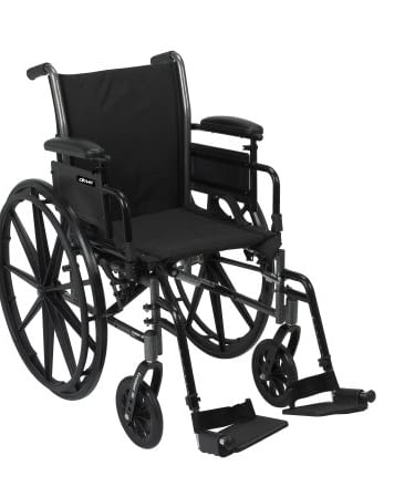 Wheelchair McK Fixed Leg Removable Padded Arm 18 Inch - 24 inch up to 350 lbs.