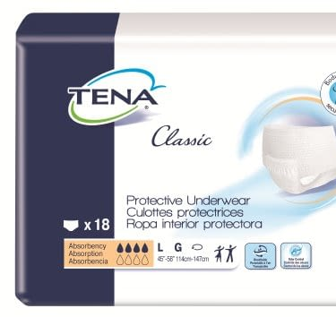 Adult Absorbent Underwear TENA® Classic Pull On Large Disposable Moderate Absorbency