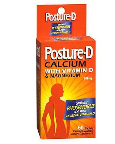 Posture D Calcium Ca with Vitamin D 60 ct