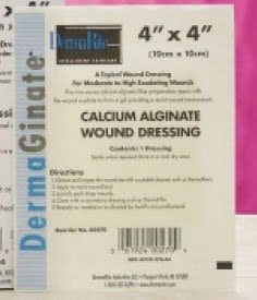 Silver Alginate Dressing DermaGinate/ Ag™ 4 X 5 Inch Rectangle Sterile