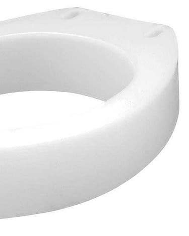 Raised Toilet Seat - Elongated Carex® 3-1/2 Inch Height White 300 lbs. Weight Capacity