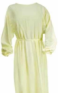 Protective Procedure Gown 50/CS Adult One Size Fits Most Yellow Non-Sterile Non Surgical