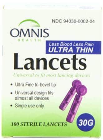 Embrace (Omnis) Blood Glucose Sterile Lancets 100ct