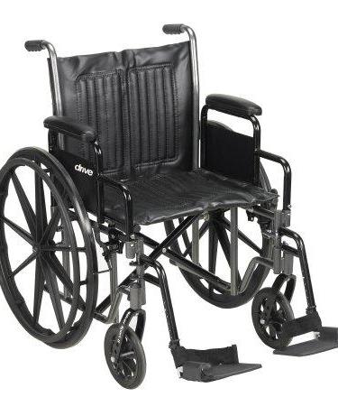 Wheelchair McKesson Dual Axle Flip Back, Padded, 18 Inch 300 lbs. Lightweight