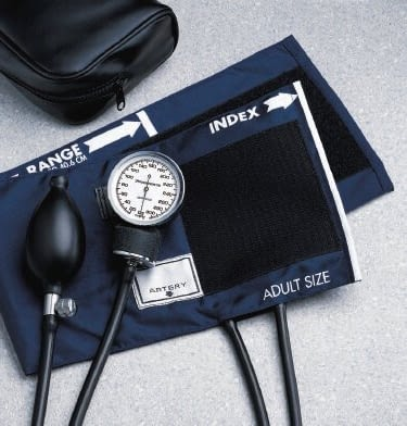 Aneroid Sphygmomanometer BASIC Hand Held 2-Tube LARGE Adult