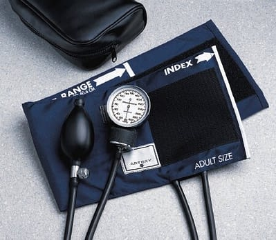 Aneroid Sphygmomanometer BASIC Hand Held 2-Tube LARGE Adult