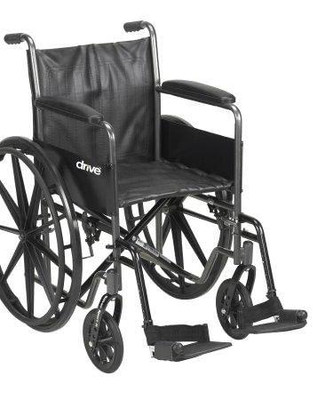 Wheelchair McKesson Padded Arm Style Composite Wheel Black 18 Inch