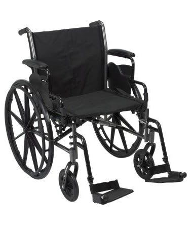 Wheelchair McKesson Dual Axle Flip Back, Lightweight
