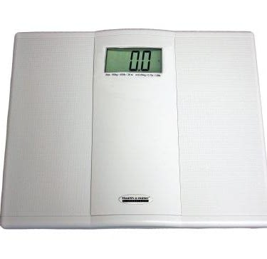 Floor Scale Health O Meter® Digital Display 400 lbs. 2 AAA Batteries - Included