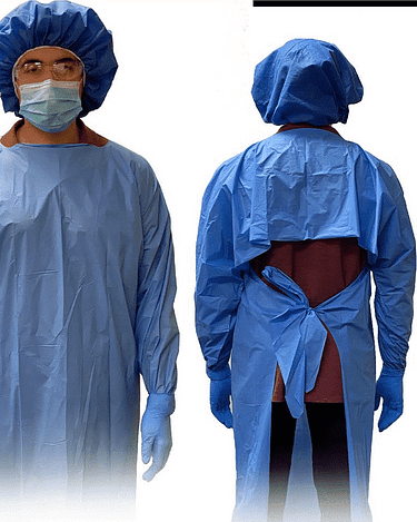 Protective Isolation Gown ASTM LEVEL 3 Adult One Size Fits Most Blue Non-Sterile (20 Pack)